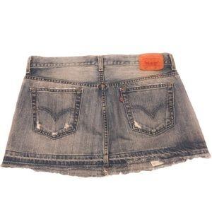 Levi's Skirts - Levi's 501 ReDone Button Fly Mini Skirt  Size: 30W